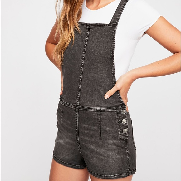d41cafb7a3d6 Free People  First Love Shortalls""